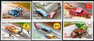 Kenya #121-6 MNH CV $8.35 (P670)