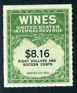 Scott RE203 - $8.16 - 1951-54 Wines - MNH - No Gum As Issued