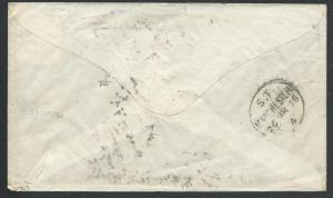 GB 1878 cover ex Italy : MANCHESTER SORTING TENDER cds.....................61789