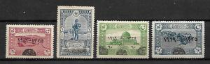 OTTOMAN TURKEY STAMPS, WWI, 1919 , SET COMPLETE, Sc.#583-586, MNH