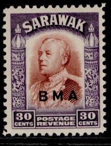 SARAWAK GVI SG138, 30c red-brown & violet, LH MINT. Cat £12.