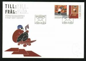 Sweden FDC Cachet 2001. Rollerskate, Skateboard.
