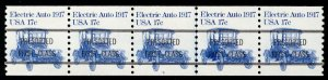 US #1906a PLATE NUMBER COIL plate 5, VF/XF mint never hinged, strip of 5,  NI...