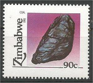 ZIMBABWE, 1993, MNH 90c, Minerals Scott 679
