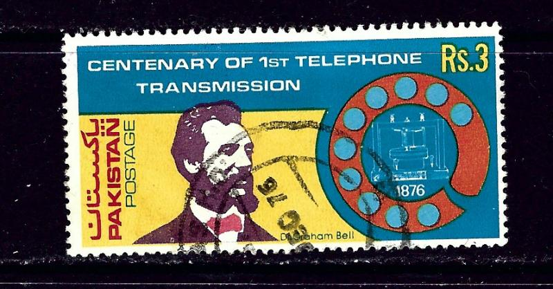 Pakistan 402 used 1976 Telephone Centenary