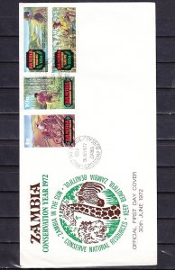 Zambia, Scott cat. 81-84. Agriculture issue. First day cover. ^