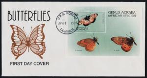 Dominica 1916 on FDC - Butterflies