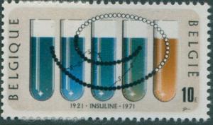 Belgium 1971 SG2236 10f Test-tubes Insulin MNH
