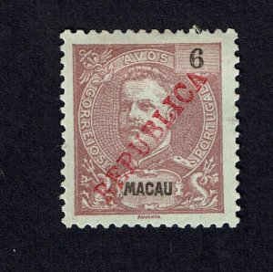 Macau 1913 MNG D. Carlos I Local Republica # 188