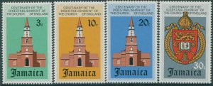 Jamaica 1971 SG328-331 Church of England Disestablishment set MNH