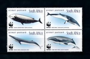 [79158] South Africa 1998 Marine Life Whales WWF  MNH