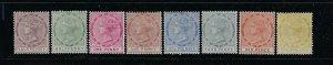 TOBAGO SCOTT #14-118/20/22-23 1882-96 VICTORIA PARTIAL SET- MINT HINGED/1 SH NG