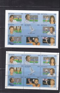 Guyana: Sc #2676, Famous Athletes, Perf & Imperf, MNH (S18143)