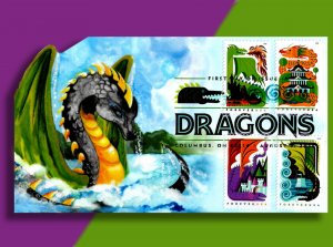 HERE BE DRAGONS! Award-Winning Collaboration FDC by 2 AFDCS Award-Winners!