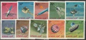 Ajman Michel 257-266 complete set MNH
