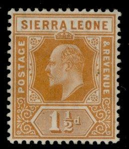 SIERRA LEONE EDVII SG101, 1½d orange, M MINT.