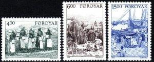 Faroe Islands #290-92 MNH CV $8.75 (X9409)