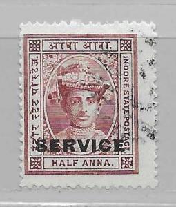 India - Indore o1 Maharaja Yeshwant Rao II single Used