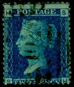 SG45, 2d blue plate 9, USED. Cat £15. SH