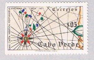 Cape Verde 277 MNH Map of Cape Verde 1952 (BP38515)