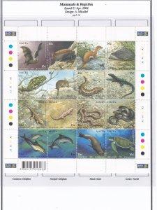 Malta # 1159, Mammals & Reptiles, Sheet of 16, Mint NH, 1/2 Cat..