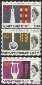 Montserrat  186-88  MNH  UNESCO 20th Anniversary