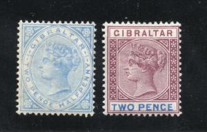 Gibraltar - SG# 41 & 42 MH (rem)  -  Lot 0119179