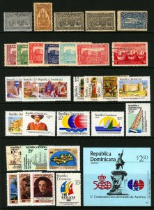 Dominican Republic 1899-1991 Columbus Thematic Lot Mostly MNH, SS Sheet 32 items