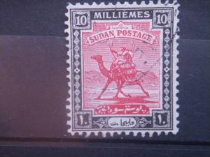 SUDAN, 1922, used 10m, Camel Post Scott 34