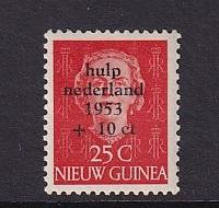 Netherlands  New Guinea  #B3  MH   1953   flood relief  25c