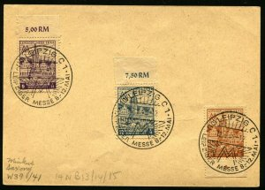 WEST SAXONY Leipzig Trade Fair #14NB13-15 LEIPZIGER MESSE Postage Cover Germany