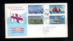 162529 Bailwick of GUERNSEY 1974 Life Boats FDC cover