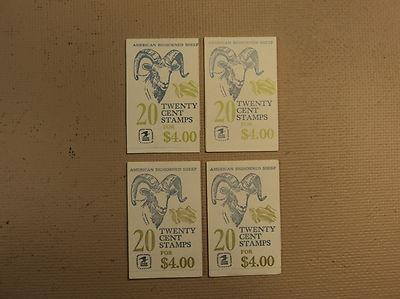 USPS Scott 1949a 20c 1981 American Bighorned Sheep 4 Book...