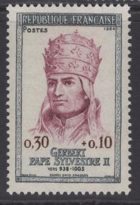 FRANCE SG1650 1964 POPE SYLVESTER II COMMEMORATION MNH