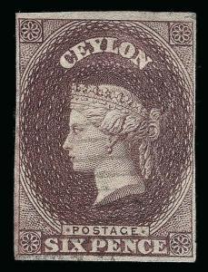 Ceylon Scott 7b Gibbons 6c Used Stamp