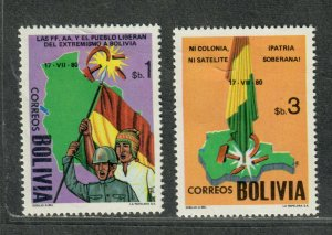 Bolivia Sc#657-658 M/NH/VF, Cv. $50