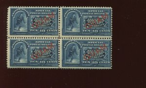 Guam E1 Special Delivery Overprint Mint Block of 4 Stamps  (Stock Guam By 712)