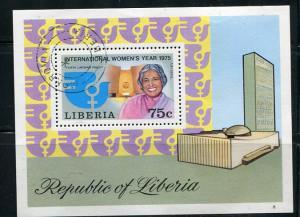 Liberia 1975 Souvenir Sheet Used/CTO Intl. Woman's Day