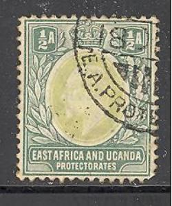East Africa & Uganda 1 used SCV $ 16.00 (RS)