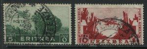 Eritrea 1936 the 2 Airmail high values used