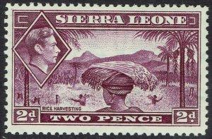 SIERRA LEONE 1938 KGVI PICTORIAL 2D MNH **
