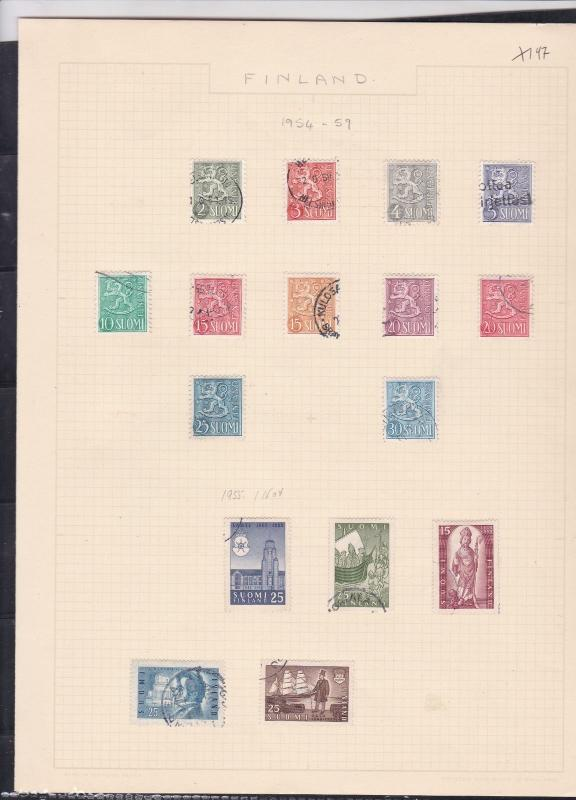 finland 1954-59  stamps page ref 18044