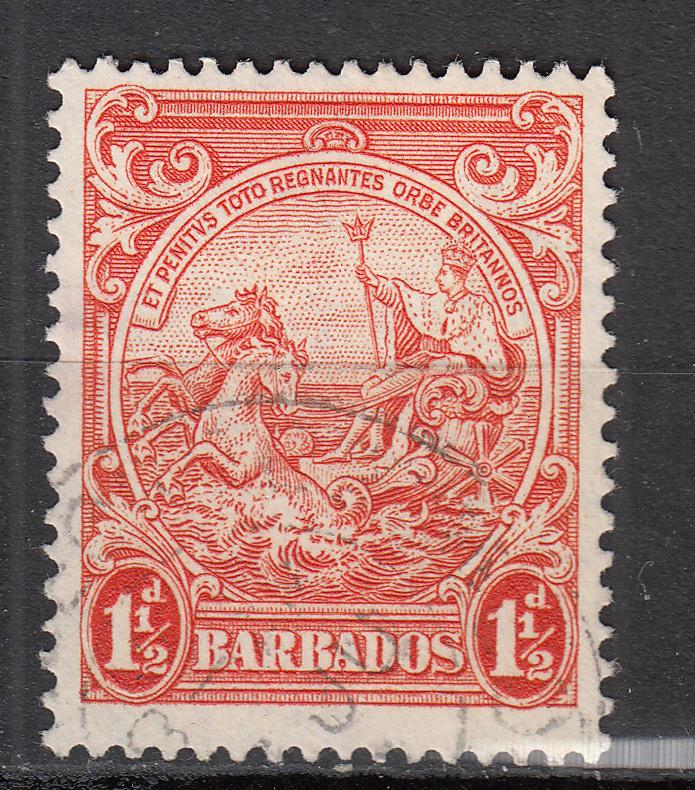 Barbados - 1938 1 1/2p Seal of the Colony Sc# 195 (770)