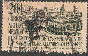 MEXICO C129, 20¢ 400th ANNIV. OF SAN MIGUEL DE ALLENDE. USED. VF. (1267)
