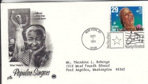 1994, Popular Singers-Ethel Waters, Artcraft/PCS, FDC (D15506)