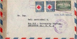 Honduras 1c Red Cross (2) and 21c Pan-American School of Agriculture 1944 Adm...