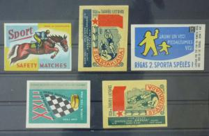 Match Box Labels ! sport basketball ball horse racing GN2