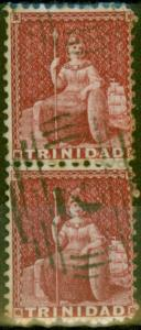 Trinidad 1862 Crimson Lake SG60 Fine Used Vert Pair