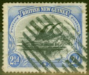 British New Guinea 1901 2 1/2d Black & Dull Blue SG4ab Fine Used Scarce