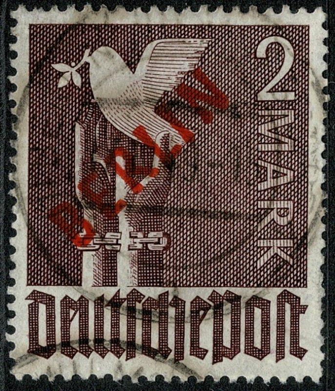 GERMANY BERLIN 1949 2m VIOLET USED (VFU) SG B34 Wmk.230 P.14 SUPERB